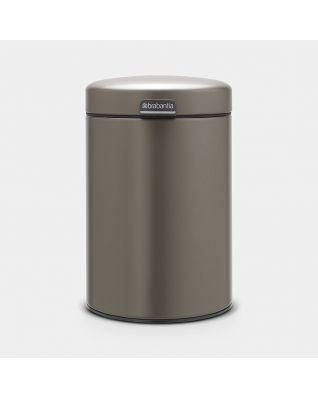 Wandafvalemmer 3 liter - Platinum