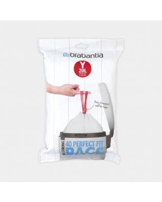PerfectFit Müllbeutel für newIcon, Codierung Y (20 Liter), Spenderpack, 40 Stück