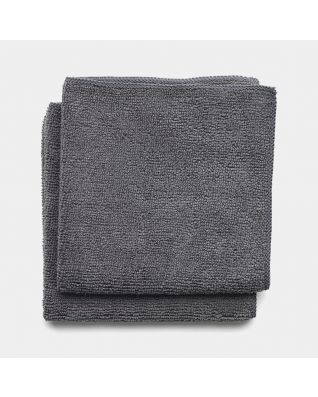 Chiffons de nettoyage en microfibre Set de 2 - Dark Grey