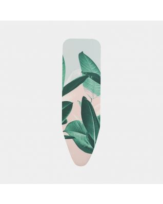 Ironing Board Cover B 124 x 38 cm, Complete Set - Tropical Leaves