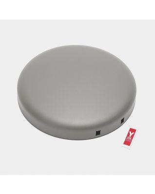 Tapa para cubo pedal newIcon, 20 litros - Mineral Concrete Grey