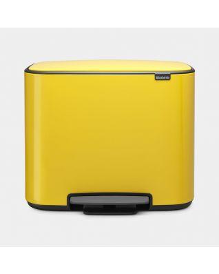 Pattumiera a pedale Bo 3 x 11 litri - Daisy Yellow