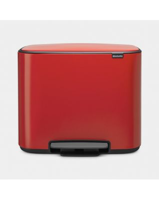 Bo Pedal Bin 11 + 23 litre - Passion Red
