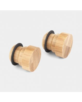 Bamboo End Caps, Set of 2 - Wood