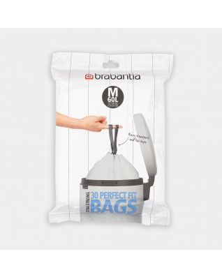 PerfectFit Bags For Bo, code M (60 litre), Dispenser Pack, 30 Bags