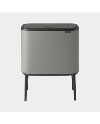 Bo Touch Bin 11 + 23 litres - Mineral Concrete Grey