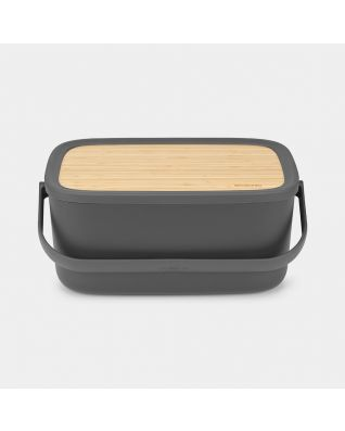 Nic Bread Bin Dark Grey