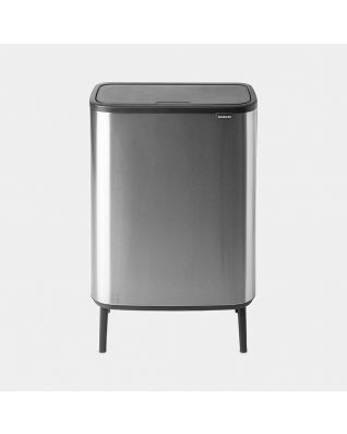 Bo Touch Bin Hi 60 litres - Matt Steel Fingerprint Proof
