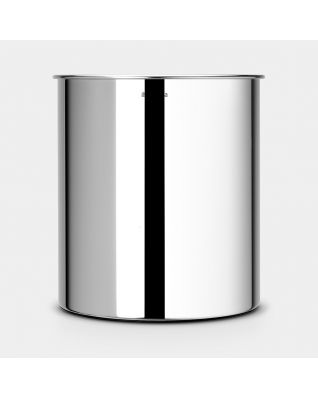 Waste Paper Bin 7 litre - Brilliant Steel