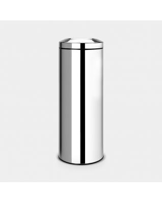 Flame Guard Waste Paper Bin 20 litre - Brilliant Steel