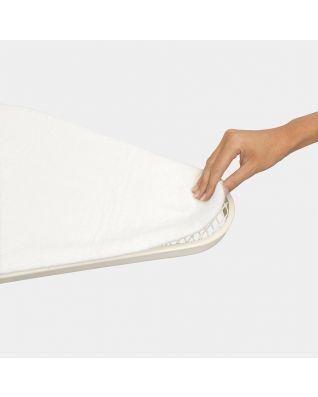 Molleton pour table à repasser taille E 135 x 49 cm, Feutre - White