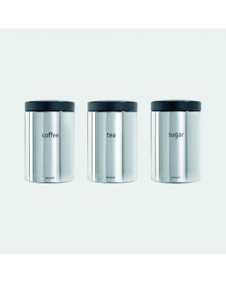 Boîtes Set de 3, 1,4 litre - Brilliant Steel