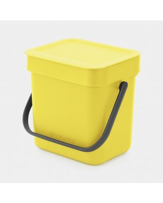 Afvalemmer Sort & Go 3 liter - Yellow