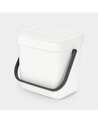 Sort & Go Waste Bin 3 litre - White
