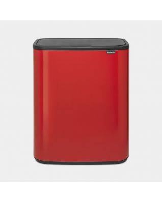 Bo Touch Bin 2 x 30 litres - Passion Red