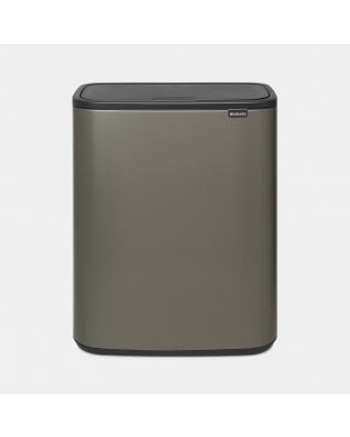 Bo Touch Bin 2 x 30 litres - Platinum