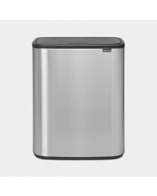 Bo Touch Bin 60 litres - Matt Steel Fingerprint Proof