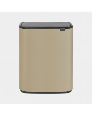 Bo Touch Bin 60 liter - Mineral Golden Beach