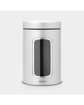 Barattolo con Finestra 1,4 litri - Metallic Grey