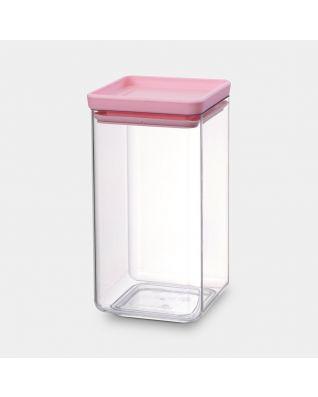 Vierkanten voorraadbus 1.6 liter - Tasty Colours Pink
