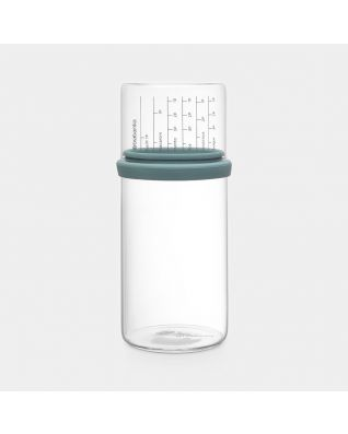 Storage Jar with Measuring Cup 1 litre, Glass - Mint