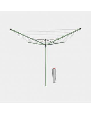 Tendedero Rotary Topspinner 50 metros, con soporte para jardín y diámetro de 45 mm - Leaf Green