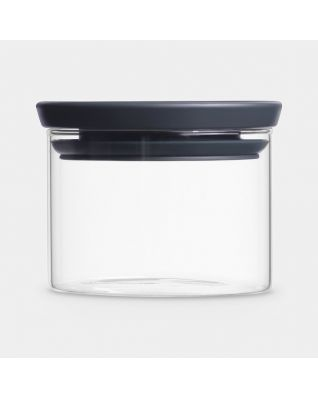 Stackable Jar 0.3 litre, Glass - Dark Grey