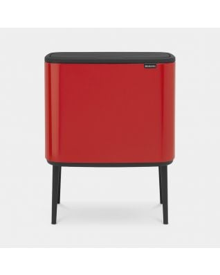 Bo Touch Bin 3 x 11 litres - Passion Red