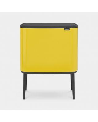 Bo Touch Bin 3 x 11 litres - Daisy Yellow