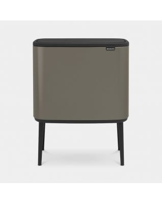 Bo Touch Bin 3 x 11 litres - Platinum
