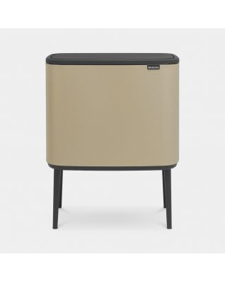 Bo Touch Bin 3 x 11 litre - Mineral Golden Beach