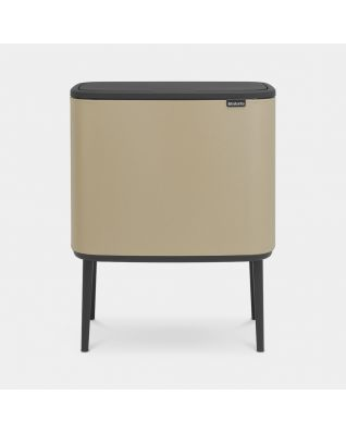 Bo Touch Bin 11 + 23 litre - Mineral Golden Beach