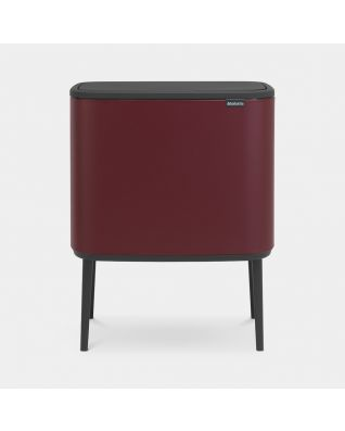Bo Touch Bin 3 x 11 litre - Mineral Windsor Red