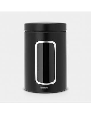 Barattolo con Finestra 1.4 litri - Matt Black