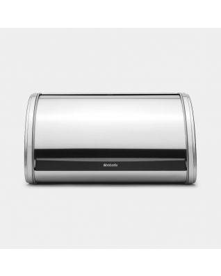 Roll Top Bread Bin Medium - Matt Steel