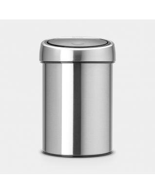 Touch Bin 3 litres - Matt Steel