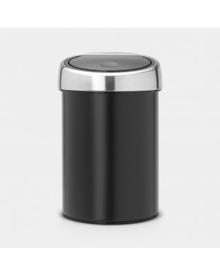 Touch Bin 3 litros - Matt Black