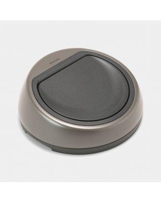 Lid Touch Bin, 50 litre - Platinum