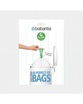 PerfectFit Bags Code G (23-30 litre), Dispenser Pack, 40 Bags