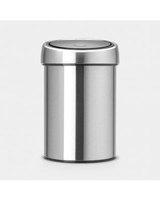 Touch Bin 3 litres - Matt Steel Fingerprint Proof