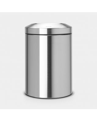 Flame Guard Waste Paper Bin 15 litre - Matt Steel