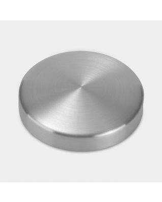 Lid Canister, Low, diameter 11cm - Matt Steel Fingerprint Proof