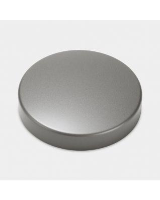 Lid Canister, Low, diameter 11cm - Platinum