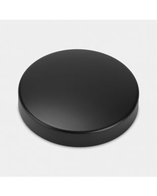 Lid Canister, Low, diameter 11cm - Matt Black