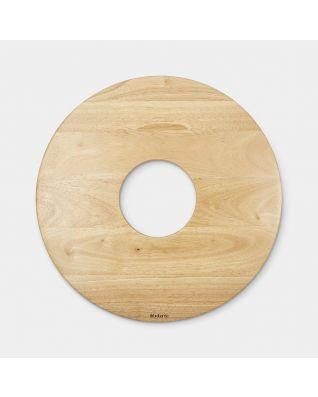 Couvercle corbeille à linge, 50 litres, Ø 38.3 cm - Wood