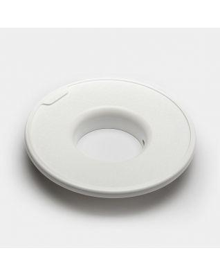 Deksel voor wasbox, 35 liter, diameter 30 cm - White