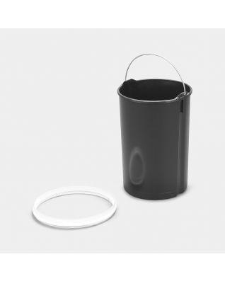 Cubo interior de plástico, 12 litros - White