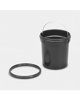 Seau intérieur plastique, 5 litres - Black