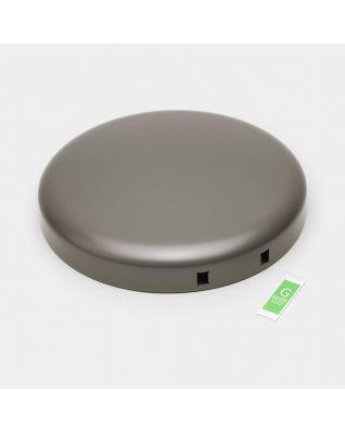 Lid Pedal Bin newIcon, 30 litre - Platinum
