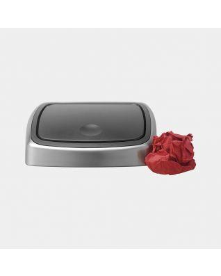 Couvercle Touch Bin, 25 litres - Matt Steel